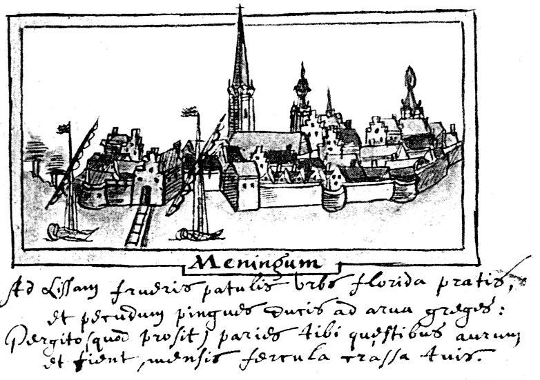 La ville de Menin fortifiée
